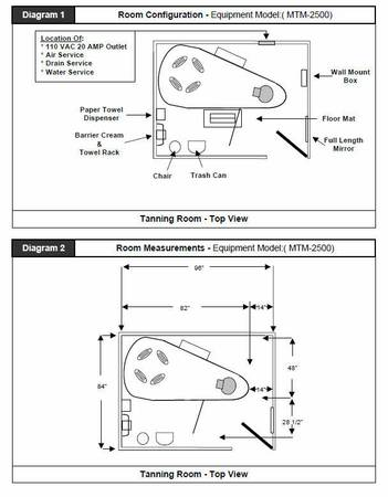 mtm2500 room layout and dimensions